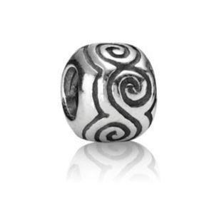 Pandora Retired Large Swirl Sterling Silver Charm